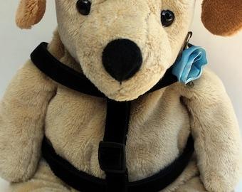Carnation Blue Velvet Step-In Dog Harness