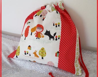 """Double pouch """"little Red Riding Hood"""""""