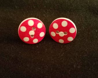 Button Spotted Earrings