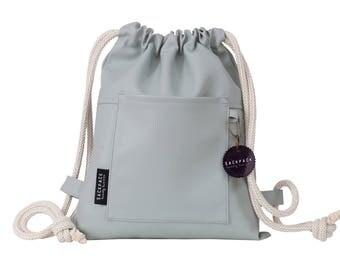 Travel Backpack, Mini backpack, Childrens backpack,  Faux leather backpack, Sackpack, Rucksack backpack, String bag, Drawstring backpack