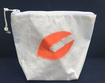 Sunblock Bag -Orange Lobster Claw - Made from Recycled Sail