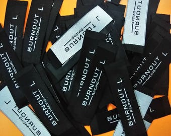300 custom woven label