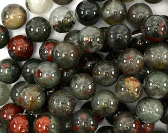 "12mm African blood agate round beads 15"" strand 39137"