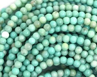 "3mm green chrysoprase round beads 16"" strand 36607"
