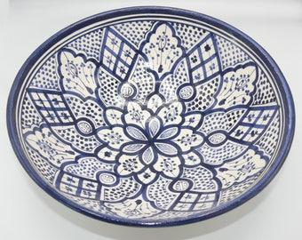 Moroccan Oriental ceramic dish bowl Fruit salad Cereal Ø 35 CM model Fauzia