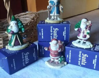 Vintage 4pc Santa Through the Ages (1900, 1910, 1920,1940)