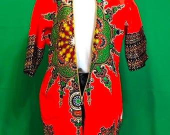 African Dashiki Print Overcoats