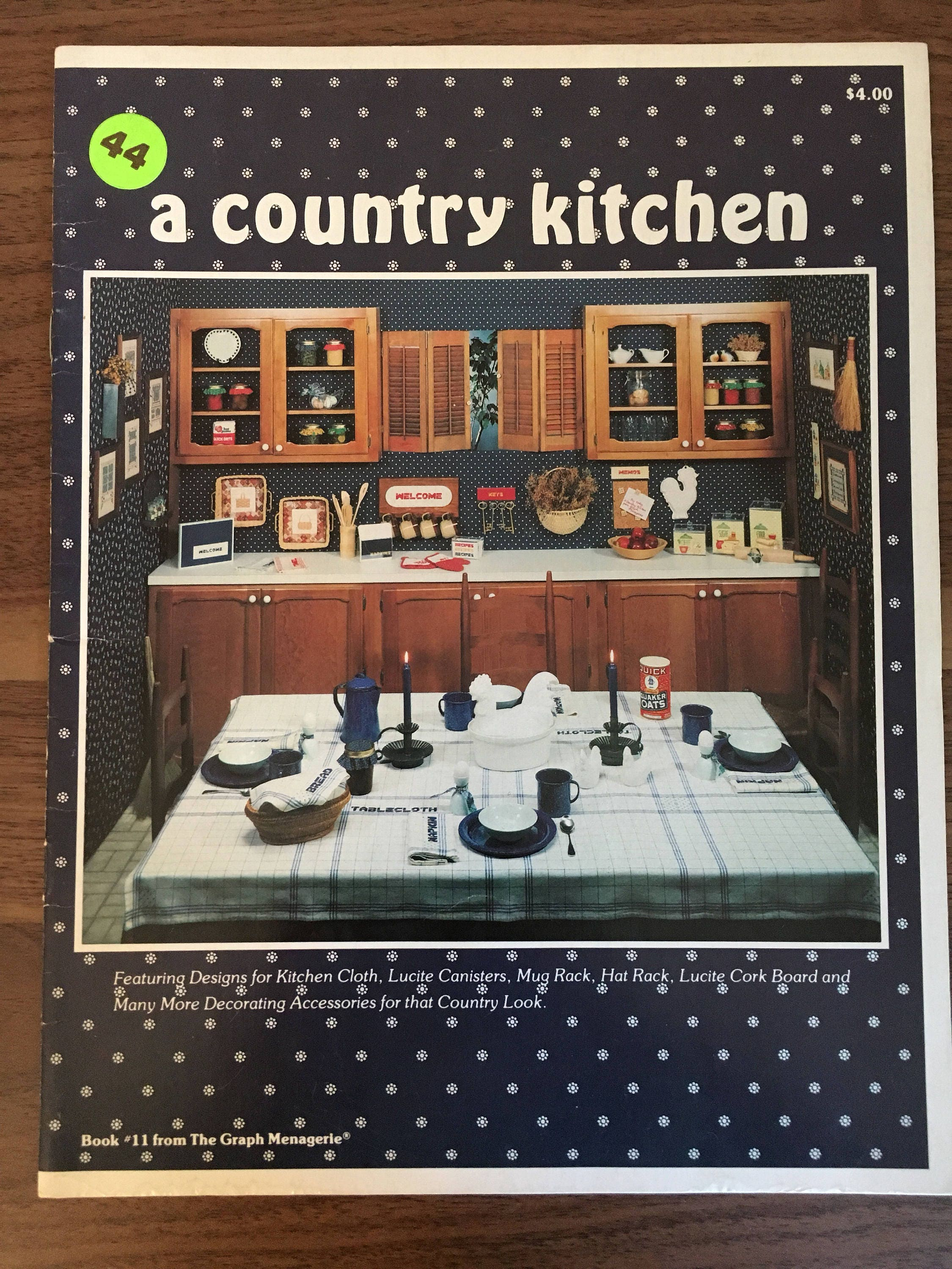 a country kitchen vintage cross stitch pattern book