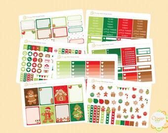 Gingerbread Weekly Kit, December Weekly Kit, Erin Condren Life Planner, Happy Planner