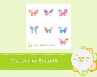 Watercolour Butterfly Stickers, Butterflies, Butterfly Planner Stickers