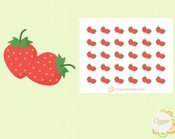 Strawerry Stickers, Strawberries Stickers, Strawberry Planner Stickers, Erin Condren Life Planner