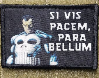 The Punisher SI VIS PACEM para bellum tactical hook backed morale patch sheepdog
