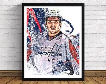 "Washington Capitals | Alex Ovechkin | 11"" x 14"" / 16""x 20"" Art Print | Perfect Gift for Hockey Lovers"