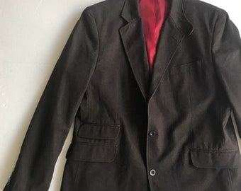 Brown cotton casual style jacket man size extra large .