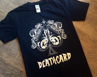 The Deathcard Horror and goth t-shirt by Nameless City Apparel