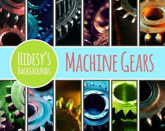 Gears / Machine Parts Photographic Digital Paper / Patterns Commercial Use Backgrounds