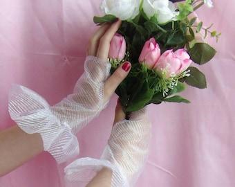 Shiny gloves