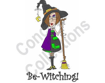 Halloween Witch - Machine Embroidery Design, Be-Witching!