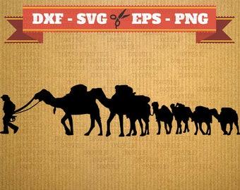 Camel SVG files for cricut - Camel svg design dxf, silhouette cricut, animal dxf, silhouette cameo, vector, File Svg, Dxf, EPS, PNG for cnc