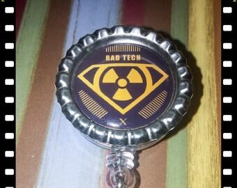 Radiology Technician Retractable Name ID  Badge Pull Lanyard Rad Tech
