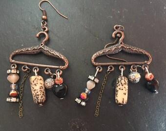 ethnic drop earrings