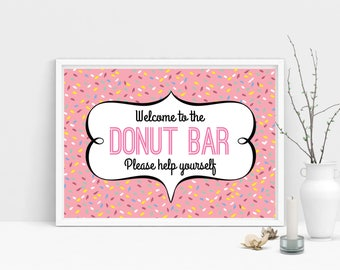 INSTANT DOWNLOAD / Donut, Printable, Wedding, Sign, Wedding Sign, Donut Bar, Donut Bar Sign, Sweet Table, Love is Sweet, Dessert Table