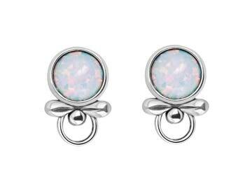 Opal Earrings Studs, Opal Stud Silver, White Opal Earrings, October Birthstone Earrings, Opal Jewelry, Christmas Gift Mom Wife, Sada Jewels