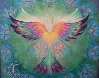 Phoenix Butterfly 12x12 giclee print on canvas