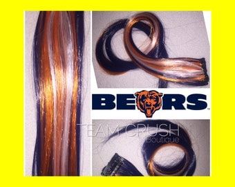 "CHICAGO BEARS 18"" Clip-In Hair Extension Set - 4 PIECES!"
