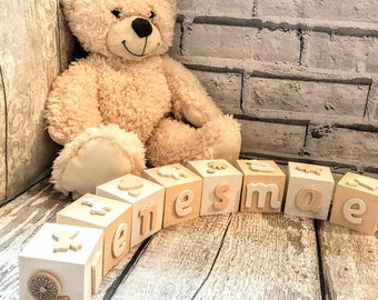 Baby wooden blocks Custom baby blocks Name baby blocks Age blocks Baby age blocks Baby blocks Nursery name signs Nursery decor Personalised