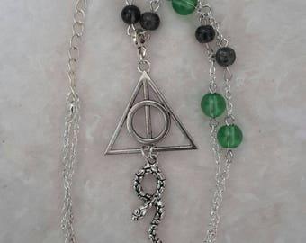 Harry Potter Slytherin inspired necklace