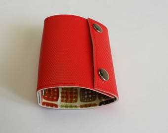 Recycled - Card holder recycled linoleum red (n 47)
