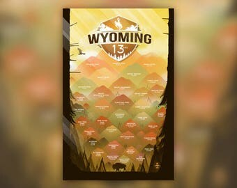 Wyoming 13ers | Wall Art Decor