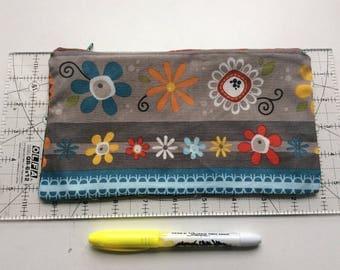 Cute flower pencil case / makeup bag