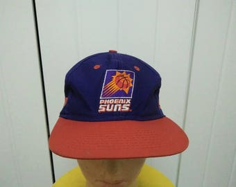 Rare Vintage PHOENIX SUNS Big Logo Embroidered Spell Out Cap Hat Free size fit all