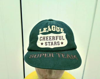 Rare Vintage LEAGUE CHEERFUL STARS Super Team Cap Hat Free Size Fit All