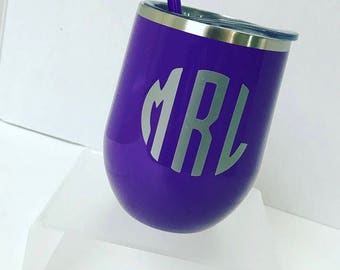 Personalized Wine/Drink Tumbler with Matching Straw