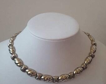 ON SALE Vintage Sterling Silver Necklace