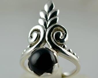 Black onyx Ring ~ Black Onyx ~ 925 Solid Sterling Silver Ring ~ Handmade Ring ~ Silver Ring ~ Black Ring ~ Size 4 to 13 US