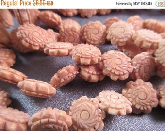 ON SALE 15% OFF Camel Bones Carved Beads 32pcs