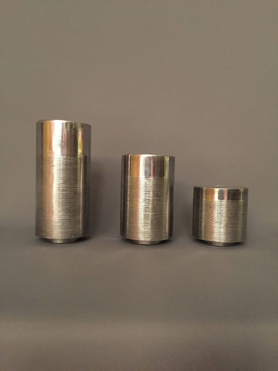 Mid-Century Set Of 3 chrome sculpture in 3 sizes