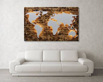 Wood 'Fire' - real wood & lighting with 3D world map
