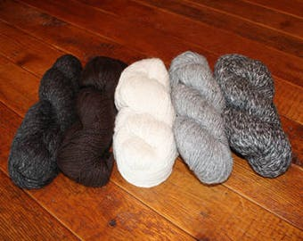 Alpaca Yarn, Natural, Worsted DK