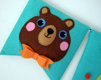Bear! -Banner-Banners-Greetings-Flags-name-birthday party-birthday party