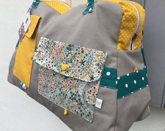 Diaper bag, large bag Week End * ME contact - order only - fabric choices *.