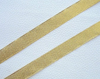 1 meter Ribbon gold PAILLETE width 16mm for your Creations
