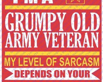 Grumpy Army Veteran SVG