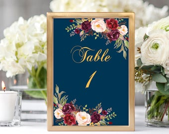 Wedding Table Numbers Printable Table Numbers Numbers 1 30