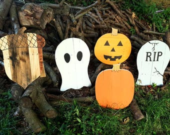 Wood Halloween decor, Pumpkin decor, Halloween yard decor, Pallet pumpkin, Fall decor, Autumn decor, Fall pallet decor, Halloween party