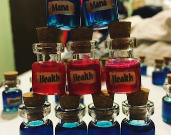 Health Potion and Mana Potion Keychain